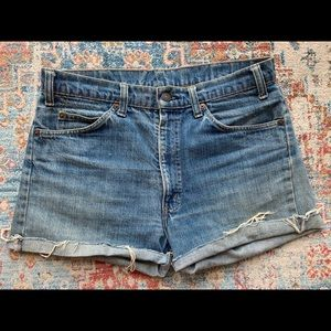 Vintage Levi's Orange Tab Denim Cutoffs